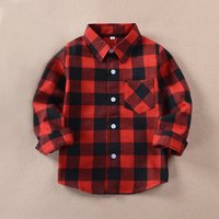 Casual Plaid Cotton Shirt for Baby Boy/Boy