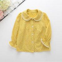 Sweet Doll Collar Long-sleeve Shirt for Toddler Girl and Girl