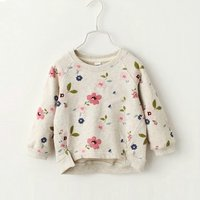 Fresh Long-sleeve Floral Pullover for Baby and Kid