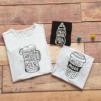 Stylish Letter Print Short-sleeve Family Matching T-shirt