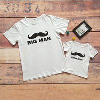 Stylish Moustache Print Matching T-shirt for Daddy and Me