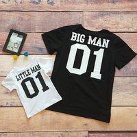 Stylish BIG MAN and LITTLE MAN Print Matching Top