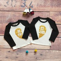 Stylish Letter Print Long-sleeve Matching T-shirt for Kid