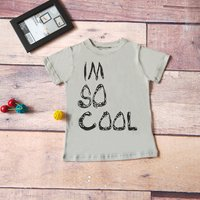 Casual IM SO COOL Short-sleeve Tee for Baby and Toddler