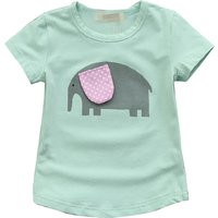 Cute Elephant Design Short Sleeves Tee for Girls