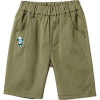 Trendy Solid Applique Decor Shorts for Boy