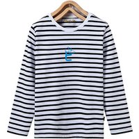Comfy Letter Print Striped Long-sleeve Top for Toddler Boy and Boy