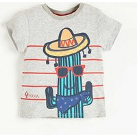 Trendy Cactus Print Short-sleeve T-shirt for Baby Boy and Boy