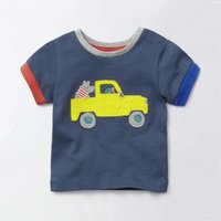 Comfy Car Applique Short Sleeves Tee for Toddler Boy