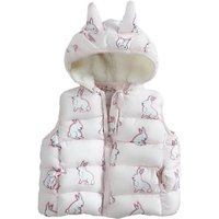 Adorable Rabbit Patterned Sleeveless Hooded Vest for Baby and Kid