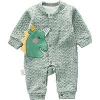 Adorable Appliqued Unicorn Long Sleeves Jumpsuit for Newborn/Baby Unisex