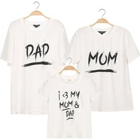 Sweet Family Letter Print Family Matching T-shirt