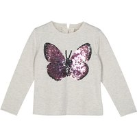 Trendy Sequin Butterfly Long Sleeve T-shirt for Toddler Girl and Girl