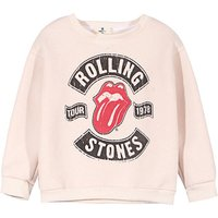 Sporty ROLLING STONES Pullover in Beige for Toddler Girl