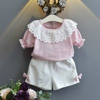 2-piece Pretty Plaid Tee and Shorts for Baby Girl