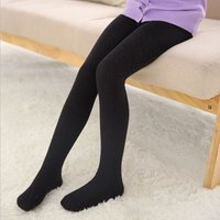 Stylish Solid Knitted Tights for Girl