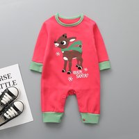 Ready Santa and Deer Printed Long-sleeve for Baby