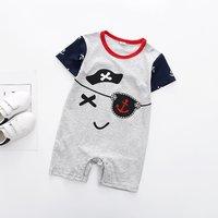 Lovely Anchor Print Short Sleeves Bodysuit for Baby Boy