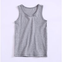 Comfy Casual Solid Tank Top for Toddler and Kid
