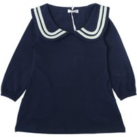 Casual Doll Collar Long-sleeve Dress for Toddler Girl and Girl