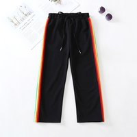 Casual Striped Pants in Black for Toddler Girl and Girl
