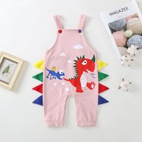 Funny Dino Print Overalls for Baby
