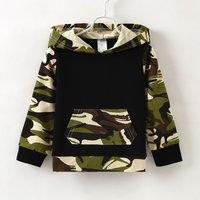 Stylish Camouflage Design Long-sleeve Hoodie
