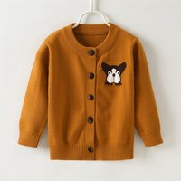 Lovely Bulldog Design Long-sleeve Cardigan