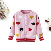 Pretty Heart Knitted Striped Long-sleeve Sweater for Baby and Toddler