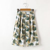 Pretty Leaf Allover Loose Pants