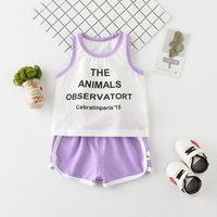 Comfy Letter Tank Top and Shorts Sporty Set for Baby