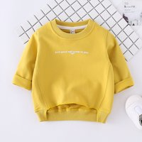 Casual Letter Print Long-sleeve Pullover for Toddler