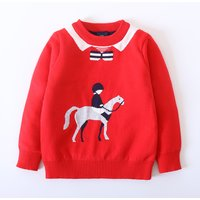 Handsome Knight Knitted Top with Fleece Lining for Boys
