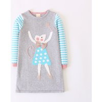 Cute Striped Cartoon Animal Graphic Knitted Dress for Toddler Girl and Girl