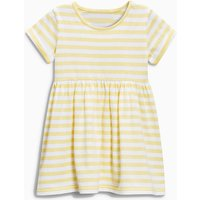 Chic Striped Short-sleeve Dress in Yellow for Baby Girl and Girl