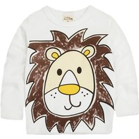 Baby and Toddler's Adorable Animal Printed Long Sleeve Cotton Tee