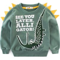 Trendy Animal Print Sweatshirt for Toddler Boy/Boy