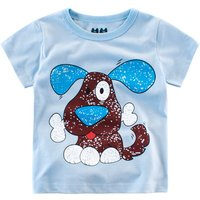 Cute Animal Graphic Short-sleeve T-shirt for Toddler and Kid