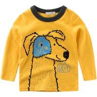 Lovely Animal Print Long-sleeve Tee for Little Boys
