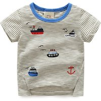 Comfy Ships Applique Stripes T-shirt for Baby