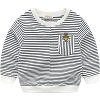 Causal Striped Long Sleeves T-shirt for Baby and Kid
