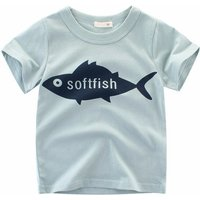Fun Fish Graphic Short-sleeve T-shirt for Baby and Kid