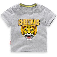Cool CHEETAHS Print Tee for Toddler Boys