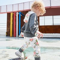 2-piece Floral Long-sleeve Hooded Top and Pants for Baby Girl