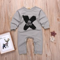 Cool Solid Long Sleeves Letter Jumpsuit for Baby Boy
