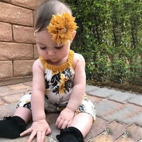 Baby's Trendy Floral Sleeveless Jumpsuit