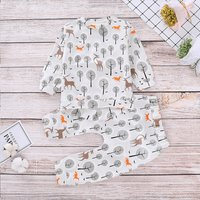 Cute Deer Pattern Long-sleeve Tee and Pants Set for Baby Boy
