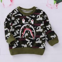 Casual Camouflage Long-sleeve Top for Baby and Kid
