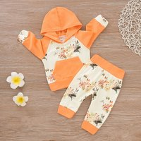 Stylish Fox Patterned Long-sleeve Hoodie and Pants Set