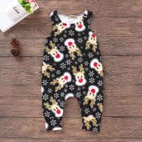 Beautiful Deer Sleeveless Overalls Jumpsuit for 3-6 Months Baby